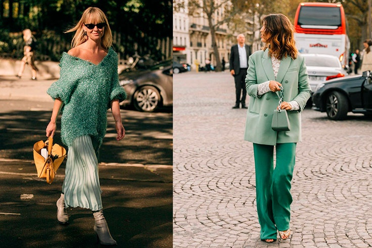 tendencias de moda verde mint