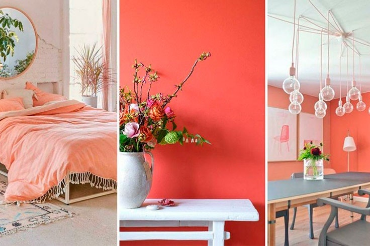 decoracion living coral