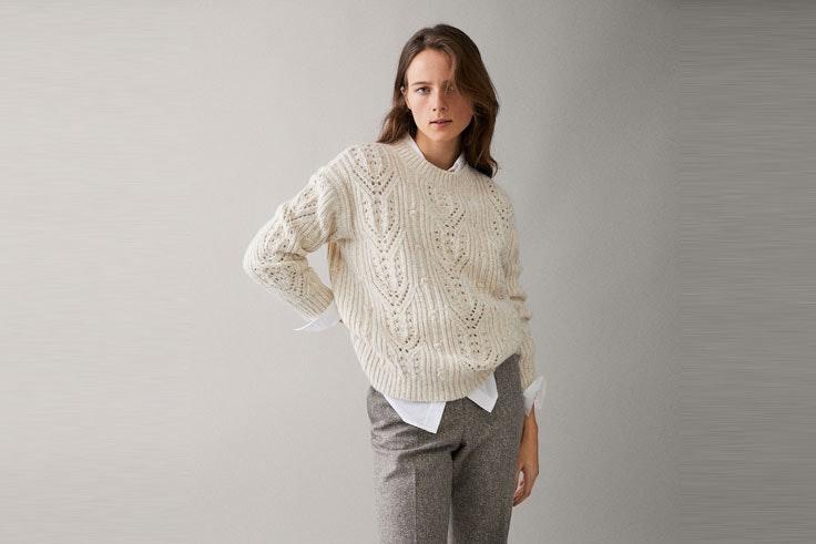 jersey-blanco-calado-massimo-dutti