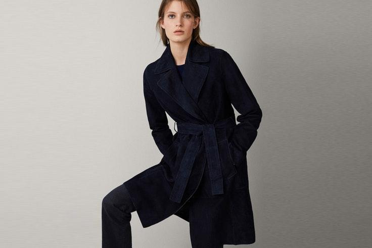abrigo-largo-azul-marino-gabardina-massimo-dutti