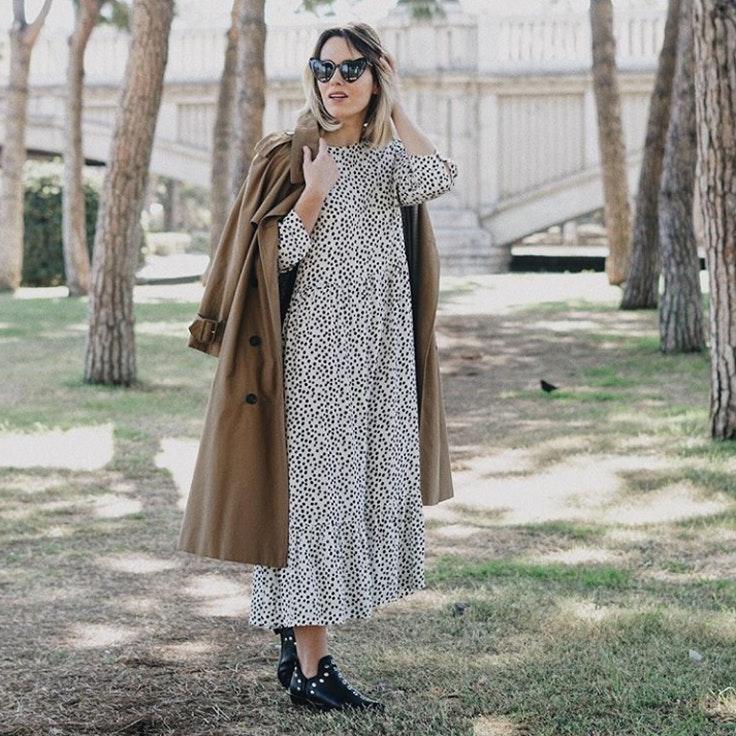 macarena-gea-vestido-largo-lunares-foto-instagram