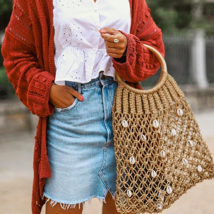 Cris Garpes con bolso