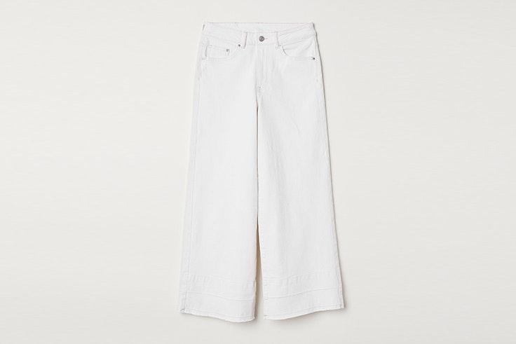 pantalones blancos de h&m