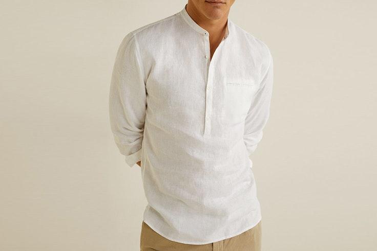 camisa-blanca-cuello-mao-mango