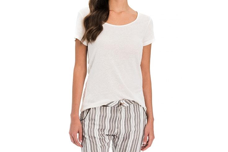 camiseta blanca salsa el estilo de Cris Calatrava