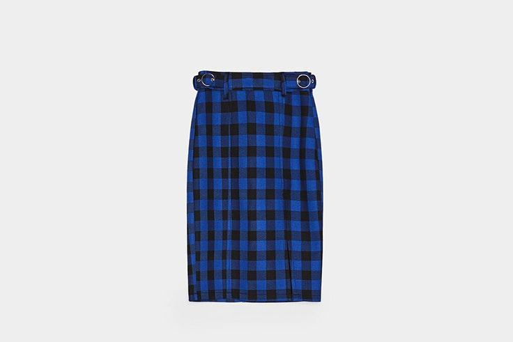 falda estampado vichy bershka