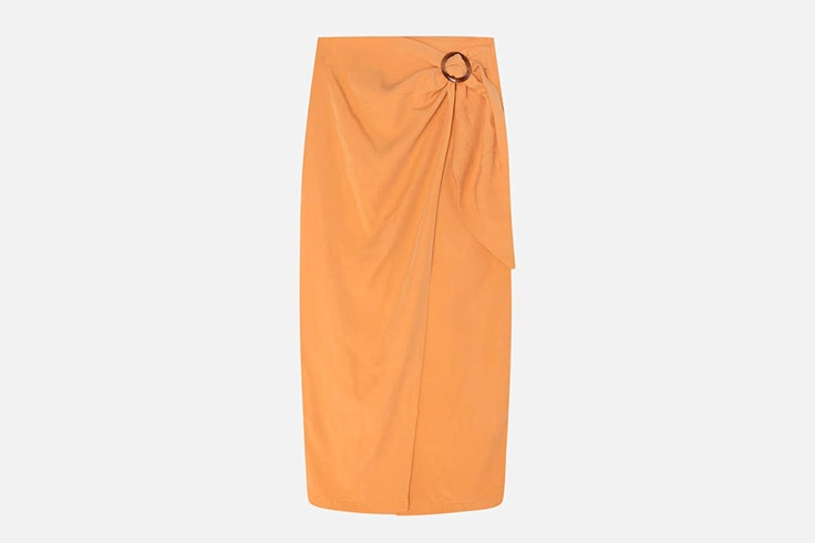 falda-naranja-detalle-hebilla-oysho