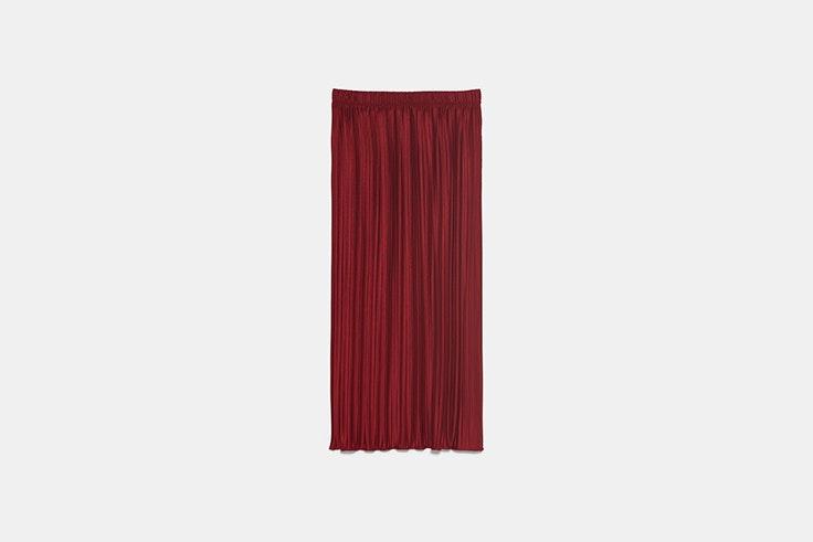 falda plisada zara el estilo de María Bernad