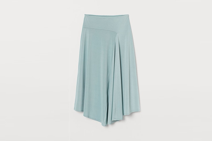 falda verde menta hym el estilo de Cris Calatrava