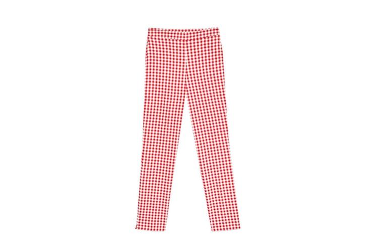 pantalon estampado vichy stradivarius