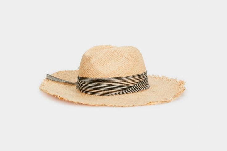sombrero paja detalle lazo parfois