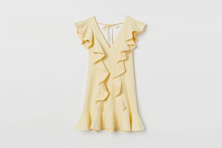 vestido amarillo volantes hym