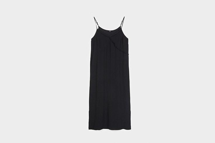 vestido negro tirantes Parfois