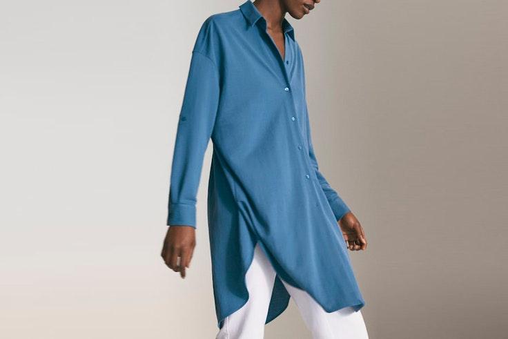 bluson azul massimo dutti el estilo de María Valdés