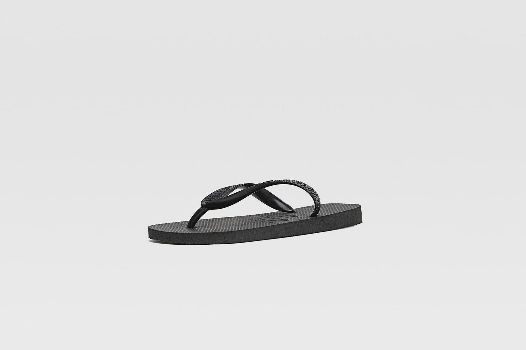 chanclas stradivarius negras sandalias