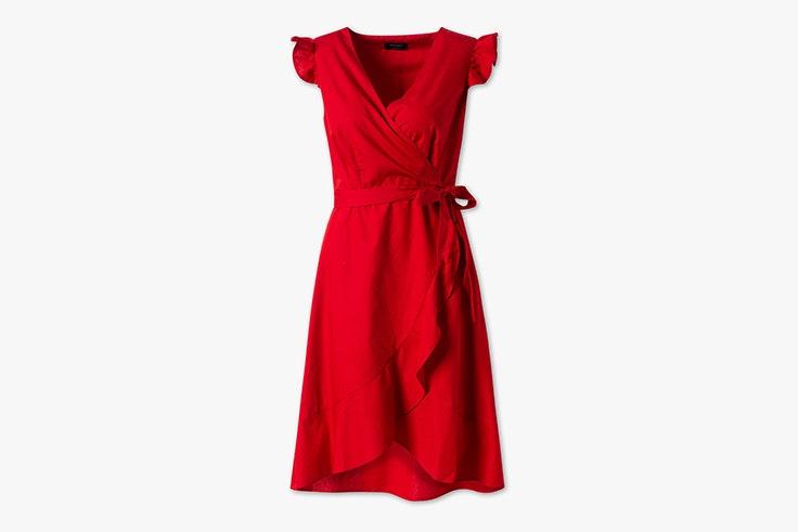 colores de verano influencers vestido midi rojo volantes cya