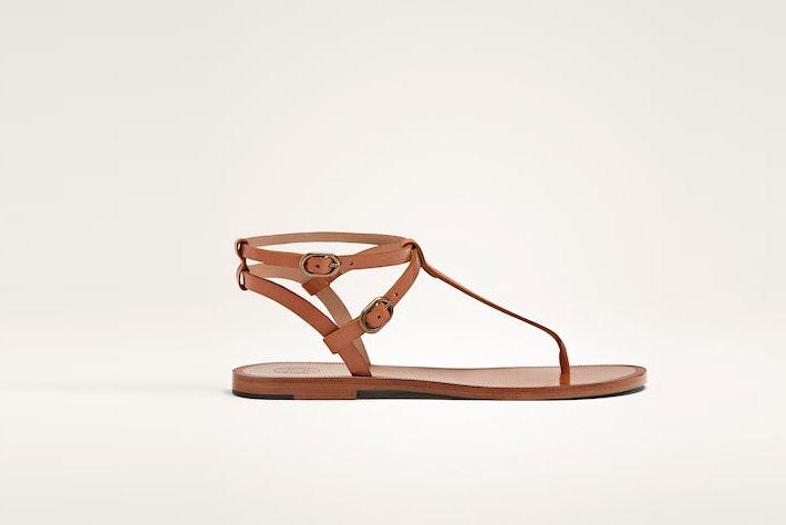 sandalia plana massimo dutti