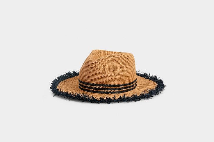 sombrero rafia parfois maleta