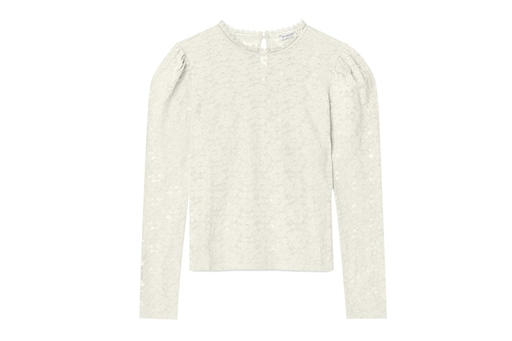 blusa encaje blanco stradivarius
