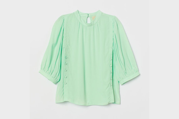 blusa verde pastel hm