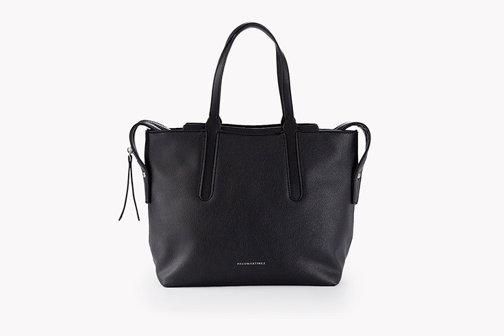 bolso shopper negro paco martinez
