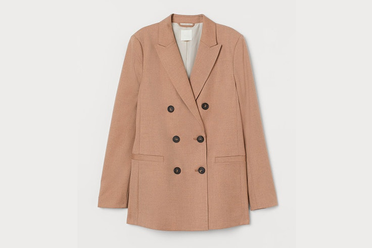 chaqueta blazer color beige hm