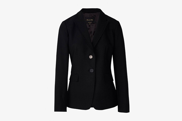 chaqueta negra americana massimo dutti