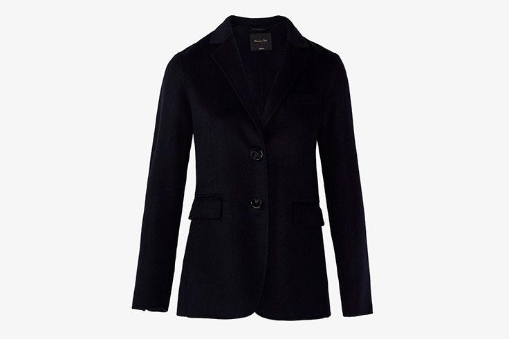 chaquetas entretiempo americana blazer negra massimo dutti