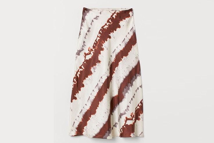faldas midi estampado tie dye hm