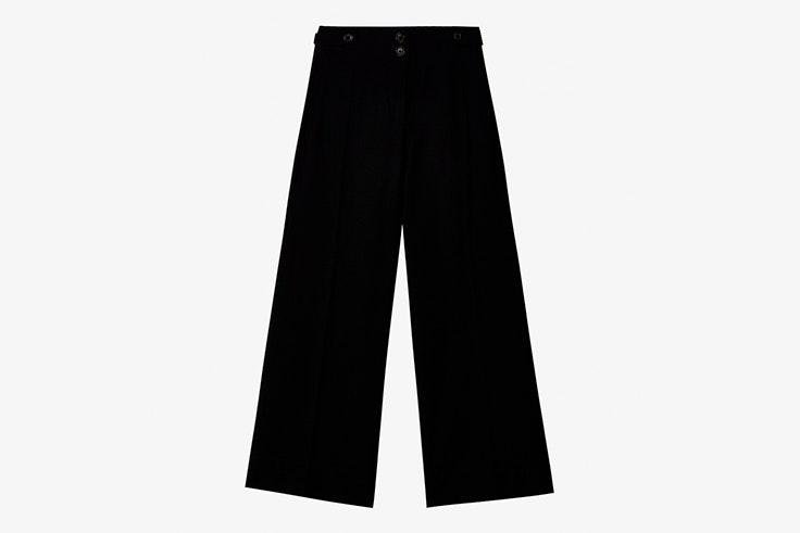 pantalon negro culotte massimo dutti