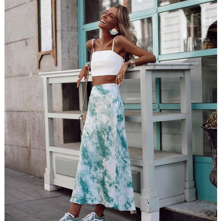 paula arguelles estilo instagram faldas midi