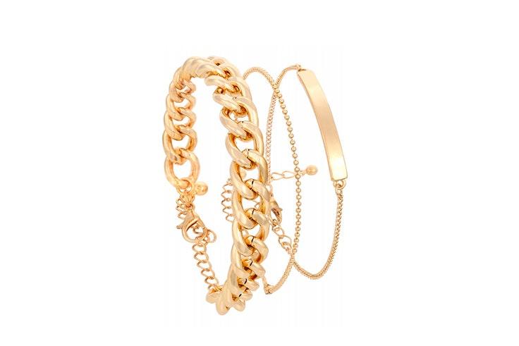 pulsera dorada bijou brigitte