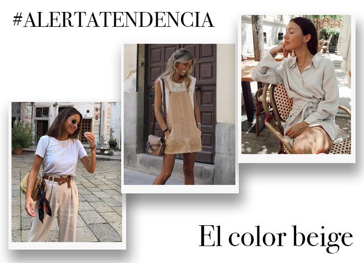 tendencia color beige conjuntos influencers