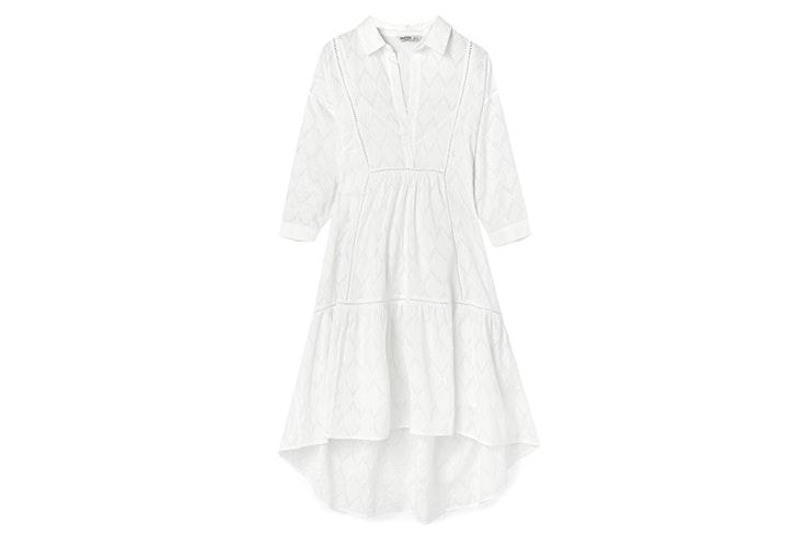 vestido blanco stradivarius