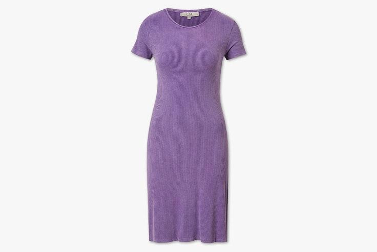 vestido de punto color lila c and a