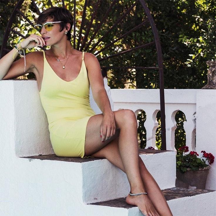 vestidos eugenia osborne estilo vestido amarillo