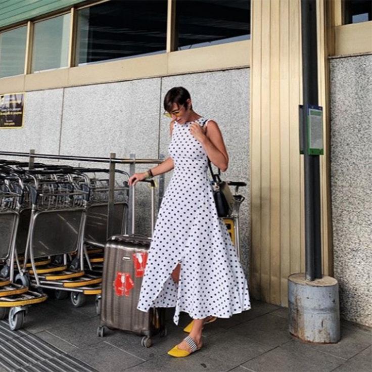 vestidos eugenia osborne estilo vestido lunares