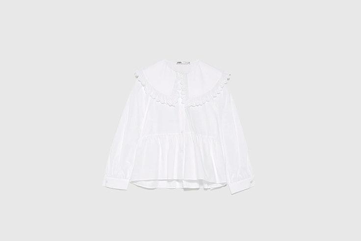 blusa popelin cuello bobo zara Rocío Osorno