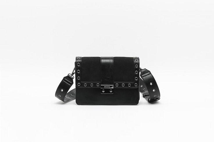 bolso bandolera negro misako