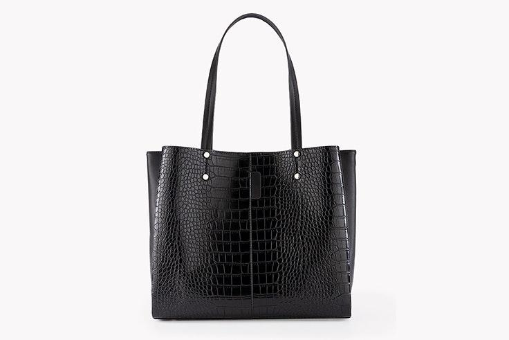 bolso negro tipo shopper efecto piel paco Martínez