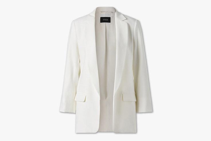 chaqueta blazer americana blanca cya