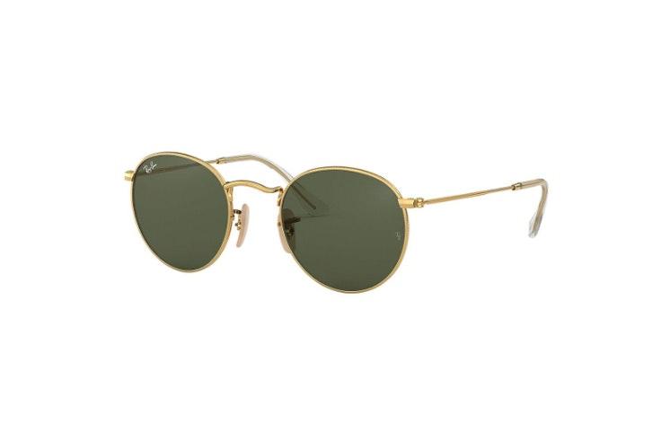 gafas de sol redondas metal dorado ray ban soloptical