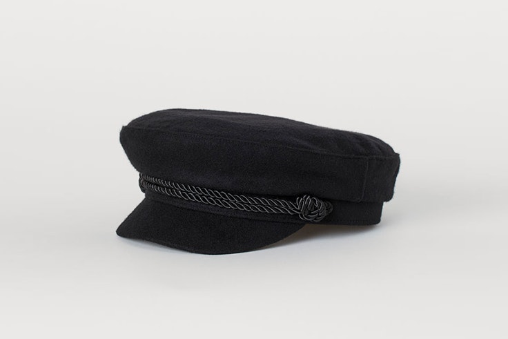 gorra marinera negra hm