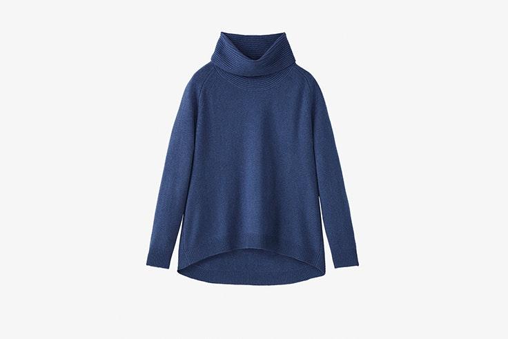 jersey cuello alto azul massimo dutti