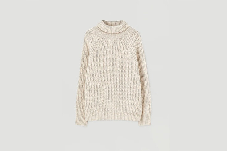 jersey cuello vuelto pull and bear
