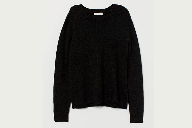 jersey negro basico hm
