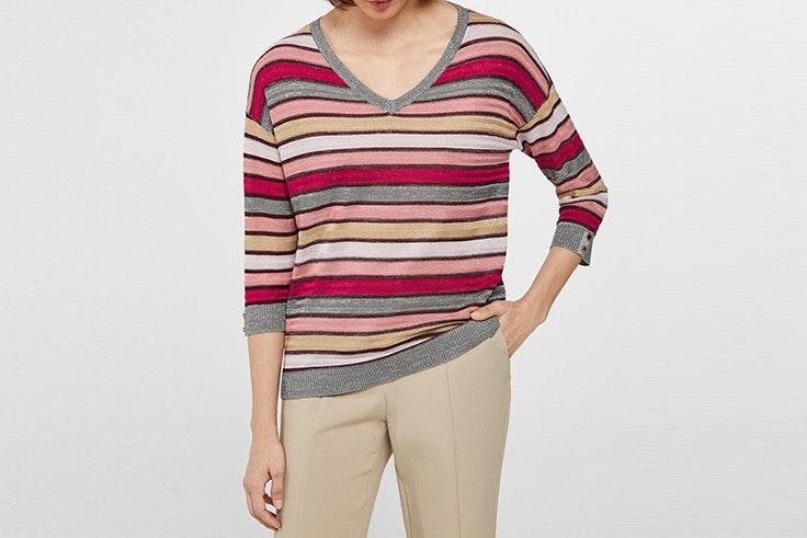 jersey rayas lurex cortefiel