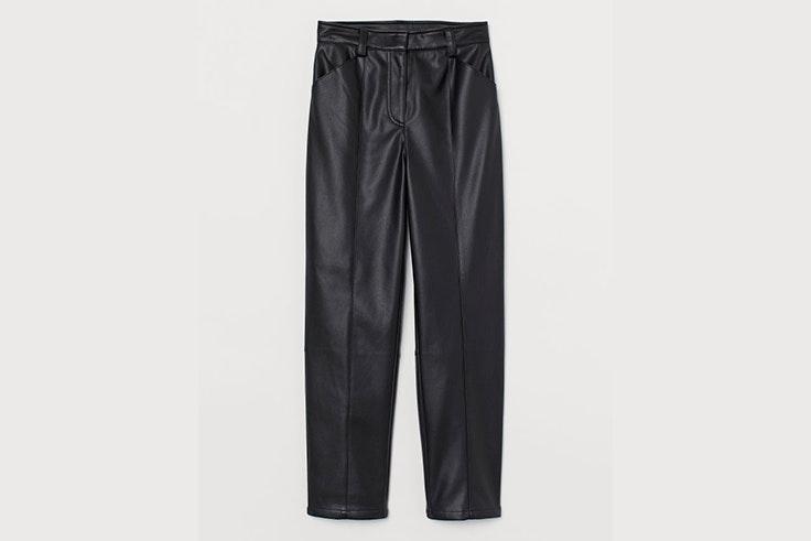 pantalón cuero polipiel negro hm