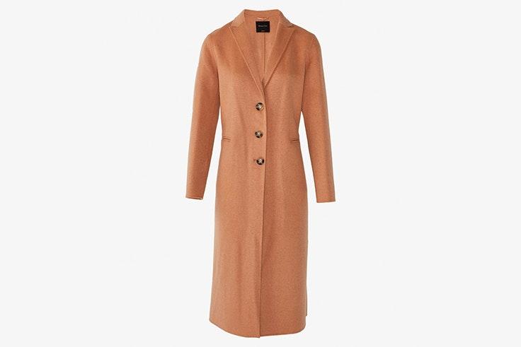 abrigo largo camel massimo dutti