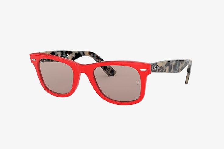 gafas de sol rojas ray ban sunglass hut